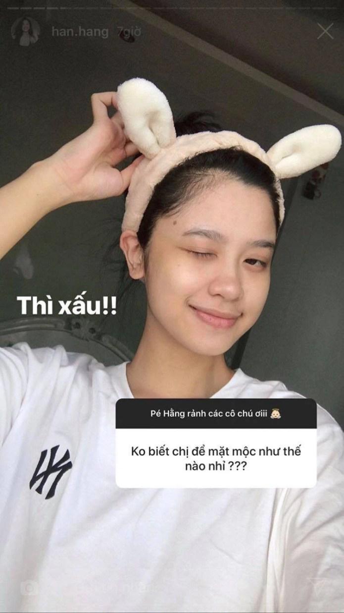 Hàn Hằng - gái xinh nóng bỏng Instagram đăng ảnh mặt mộc, dân tình liền nhận ra: Con gái khi không tô son ai cũng trông khác ghê! - Ảnh 3.