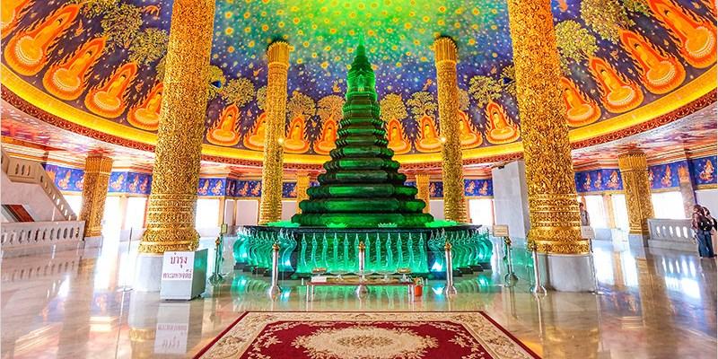 泰國曼谷佛寺 | 水門寺(巴南寺)Was Paknam,網美必去超美超好拍的室內琉璃佛塔、曼谷三級的皇家寺廟。
