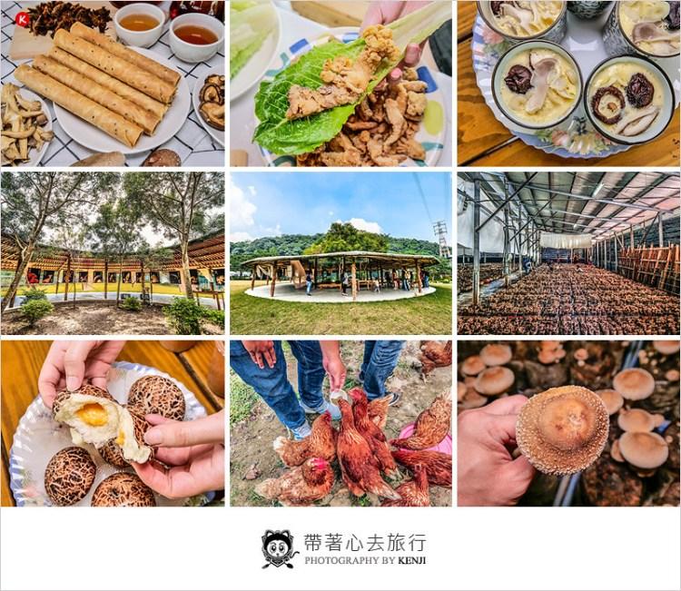 台中新社旅遊景點 | 百菇莊-採菇、餵雞、蒸蛋DIY、蛋捲DIY,各種菇類小吃美食,親子及團體休閒同遊的好去處。