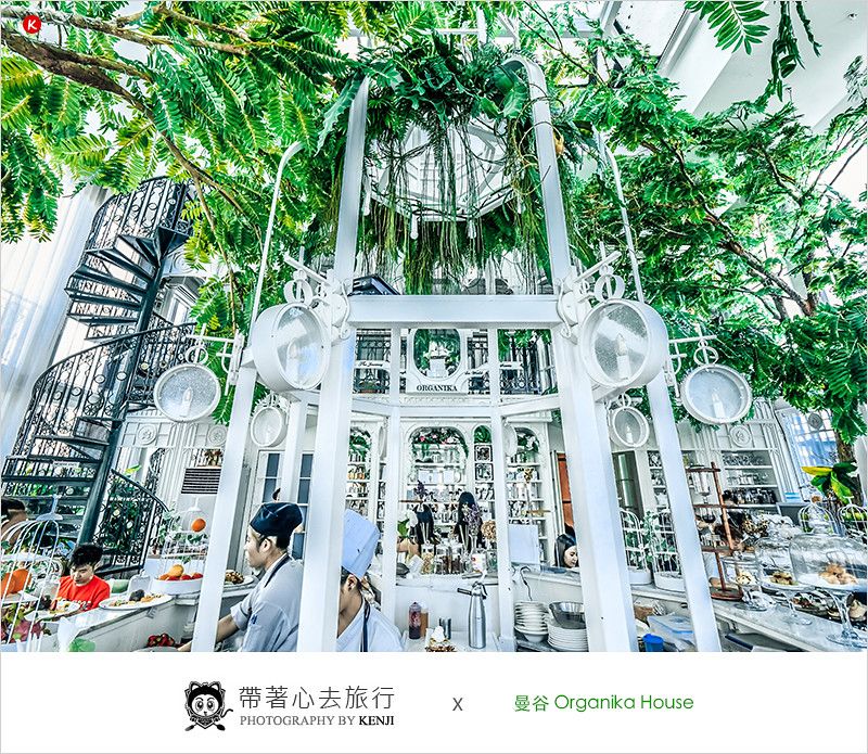 泰國曼谷咖啡廳   Organika House (Phrom Phong)-超美浮誇森林系玻璃屋餐廳,怎麼拍怎麼美,專賣各式早午餐、下午茶、調酒。網美不能錯過的咖啡廳。