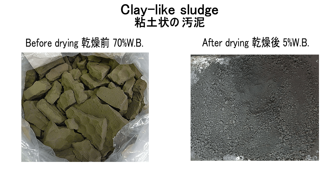 clay-like sludge drying 7.7.2017