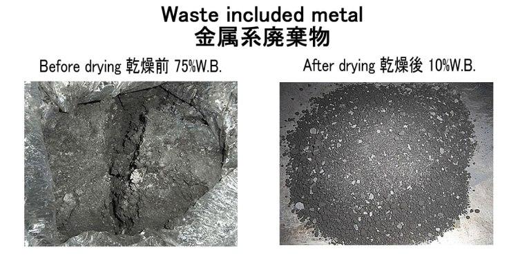 waste included metal drying kenkidryer 16.11.2016