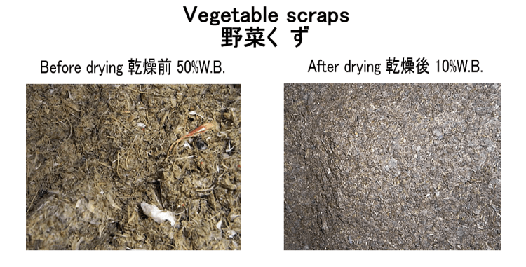 vegetable scraps drying kneki dryer 3.1.2018