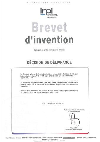 France patent KENKI DRYER 03062019