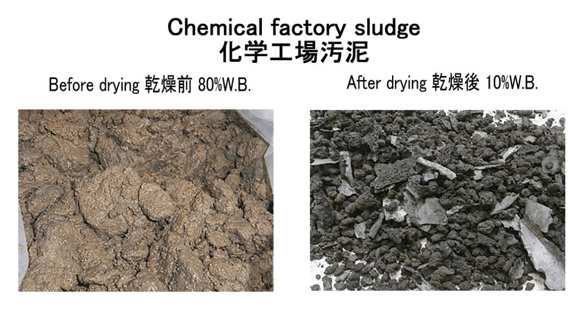 chemical factory sludge drying kenki dryer 17/05/2020