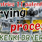 Drying process sludge dryer KENKI DRYER 2021.7.19