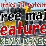 three major features sludge dryer KENKI DRYER 2021.7.30