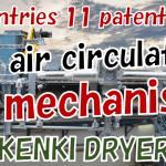 Hot air circulating mechanism sludge dryer slurry dryer waste dryer KENKI DRYER 11082021