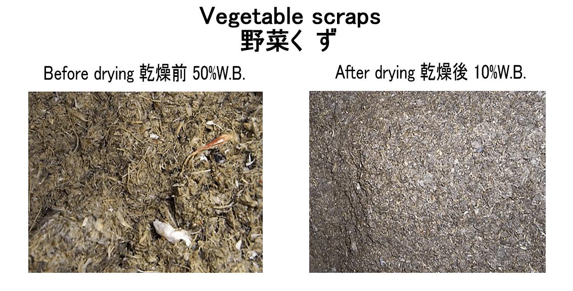野菜くず乾燥 燃料化 kenkidryer 2017.12.6