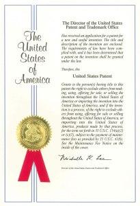 米国 特許証 1番目 KENKI DRYER 2018.2.3