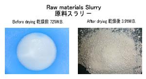 原料スラリー乾燥 液体乾燥 kenki dryer 2018.4.13