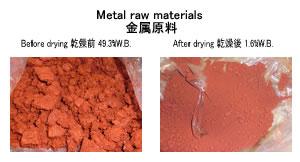 金属原料乾燥 原料スラリー乾燥 kenki dryer 2018.8.29