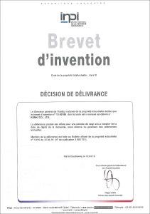 フランス 特許証 KENKI DRYER 2019.5.26