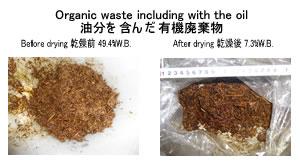 油分を含む有機廃棄物乾燥 リサイクル乾燥 kenki dryer 2020.3.16