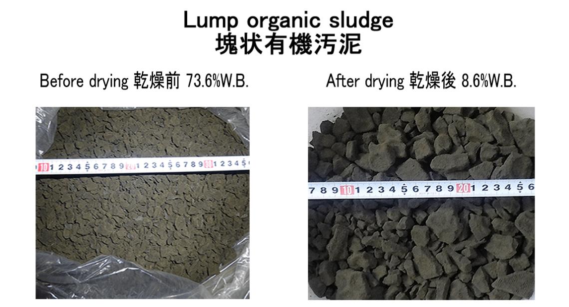 塊状有機汚泥乾燥 有機汚泥乾燥機 KENKI DRYER 2021.5.20