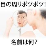 【画像】目の周りの白いポツポツ・ぶつぶつ除去したい!子供にも出来る稗粒腫の原因は