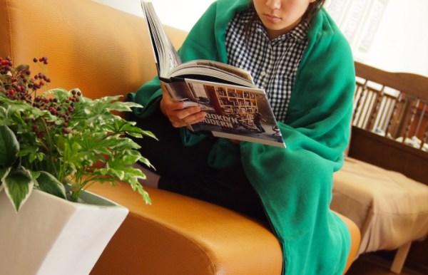 ผ้าห่ม Cumuco สำหรับห่มร่างกาย สีเขียว