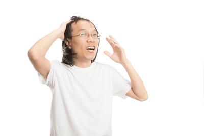 若ハゲの髪型