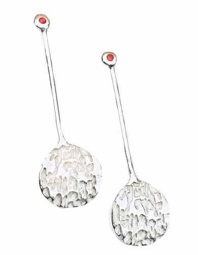 Sterling silver, Sume Earrings, elongated