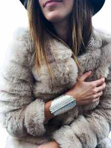 Kenly Warren jewelry, sterling silver Sakou bracelet