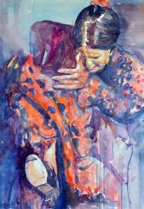 painting flamenco deep display passion