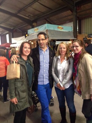 Meeting Yotam ottolenghi at Litfest with Mairead Jacob and Alex Cashman.