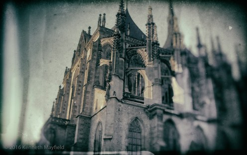 Kutna Hora film image processed with Nik software