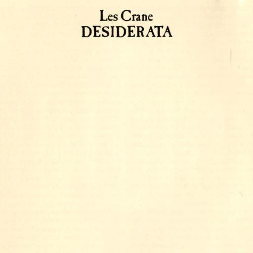 Les Crane - Desiderata
