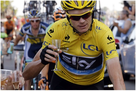 Tour De France Champagne Chris Froome