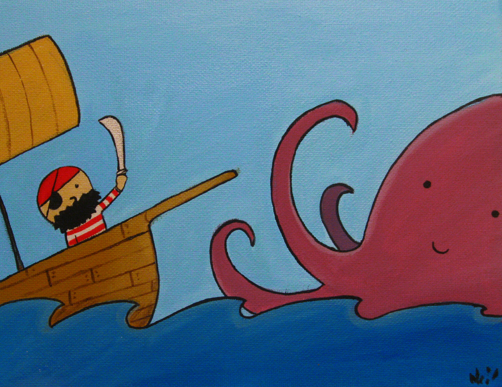 Pirate and octopus