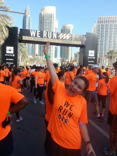 We Run Dubai Finish Line