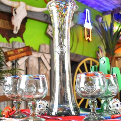 Hand Blown Margarita Glass Set (from Mexico)