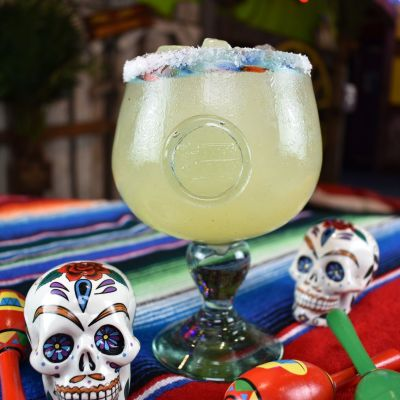 Hand Blown Margarita Glass (from Mexico)