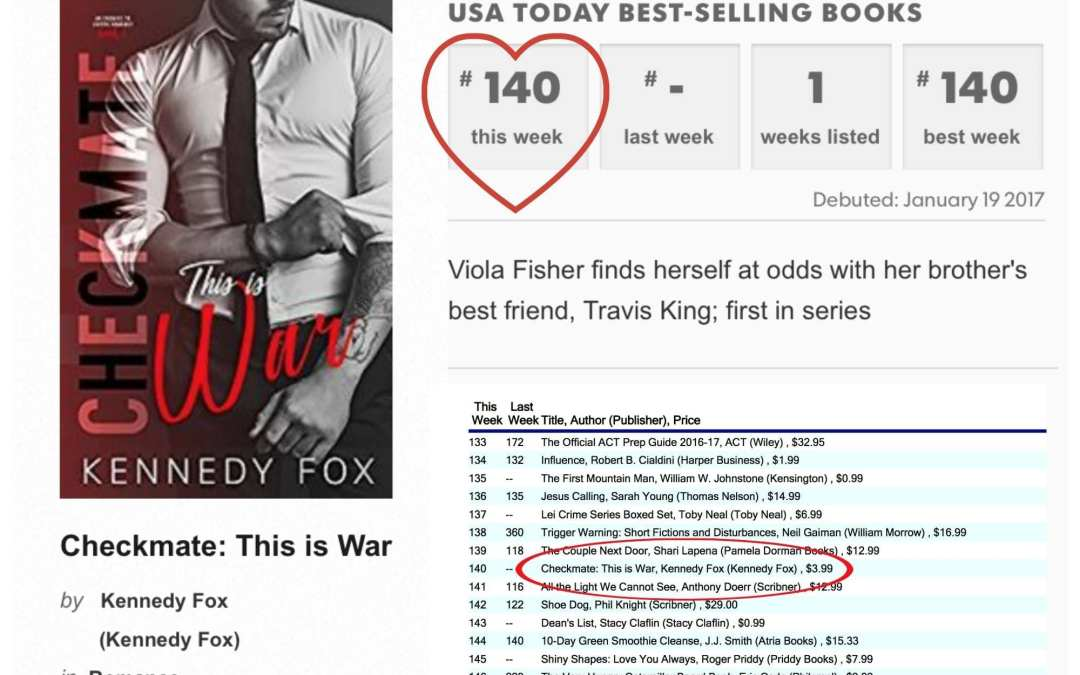 Checkmate: This is War is a USA Today Bestseller!