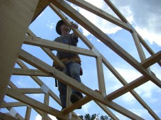 Helping build a church in Louisiana