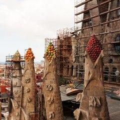 Sagrada Familia roof of the nave