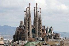 Sagrada Familia viewed from Casa Milà