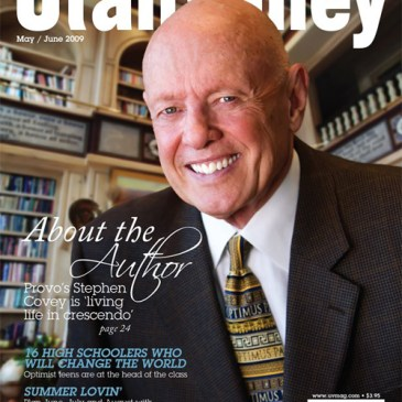 Photographing Dr. Stephen R. Covey
