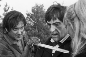 Sydney Arnold (left) as Perkins in Doctor Who