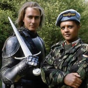 Marcus Gilbert (left) in Doctor Who