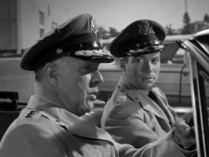 Lloyd Gough with William Shatner in The Outer Limits: Cold Hands Warm Heart