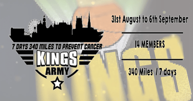 Thames Valley Kings 7 days & 340 miles for charity
