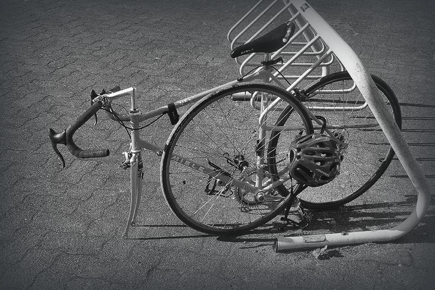 Seattle Lummi Island & Vancouver_bike rack BW_0169 blog