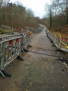 Metal barriers erected across Oxford Road
