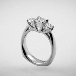 3-Stone Crown Style Ring