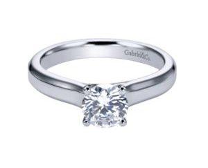 ER6583W4JJJ 1 e1506981721808 - 14K White Gold Round Solitaire Engagement Ring