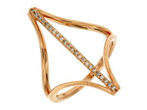 PC6696D - Geometric Diamond Bar Ring