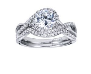 WB7804W44JJ 4 e1506981961448 - 14K White Gold Round Twisted Engagement Ring