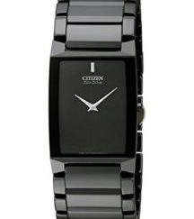 "bnlah - Citizen Men's AR3045-52E ""Stiletto Blade"" Black Ceramic Eco-Drive Watch"