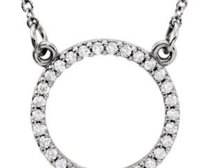 sts84155 - Diamond Circle Pendant